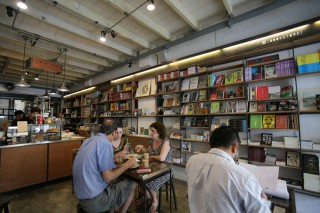 Bookhemian 2521 is a cool coffee shop with creative drinks and a collection of books and independent movies