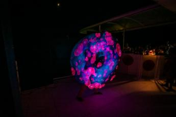 LED 'fire show' that kept guests entertained